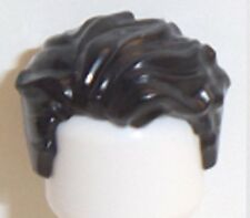 Lego Hair Swept Left Tousled x 1 Black for Minifigure