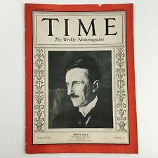 VTG Time Magazine July 20 1931 Vol 18 #3 American Inventor Nikola Tesla