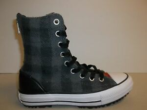 Converse Size 6 CT HI-RISE BOOT Gray Wool Woolrich Boots New Womens Shoes