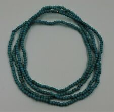 """long 60""""inch genuine 5mm Turquoise beads jewelry Necklace"""