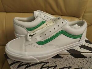 Vans Vault Og Style 36 Lx Leather Men's Size 12 Shoes Green/White VN0A4BVE21C