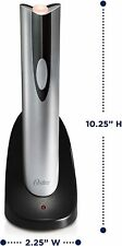 Oster Electric Wine Bottle Opener Corkscrew Cork Cordless Rechargeable