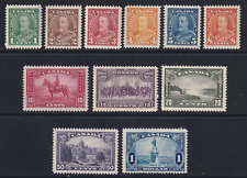 Canada 1935 King George V Pictorials #217-227 Mostly MH/VF  CV $140.00