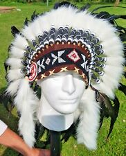 LARGE HIGH QUALITY AUTHENTIC NATIVE AMERICAN HEAD DRESS