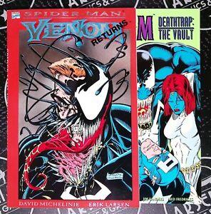 Venom TPB Set (1993) Marvel Comics Deathtrap The Vault Spider-Man Bagley Larsen