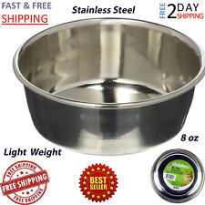 Stainless Steel Feeding Cat Bowl Dish Feeder Small Pet Food Water 1 cup / 8 oz