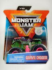 Grave Digger Monster Jam Truck (Figure,Poster) Pink Rims (Spin Master)(2019)
