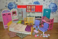 Barbie Dolls Furniture - kitchen, wardrobes, beds, quilts...