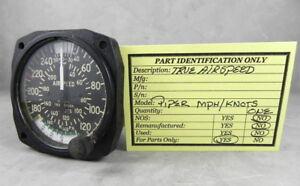 Piper True Airspeed Indicator 0-250 MPH / 0-215 Knots