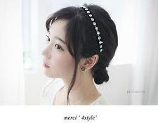 Black Gun Metal plated Crystal Chain Elastic Hair Band/Headpiece Hair Accessory