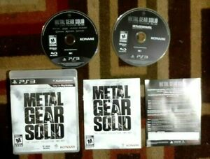 Metal Gear Solid The Legacy Collection 1987-2012 Complete (PS3) Excellent Shape