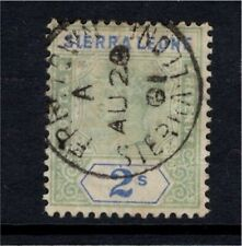 Sierra Leone QV 1896 2/- Fine Used with dated CDS