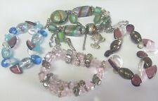 20 Armbänder mit Glaskristall Kristall Armband Paket Charmsarmband Bettelarmband