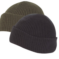 Knitted Hat Watch Cap Thermal Acrylic Winter Beanie Green Black Pack of 50