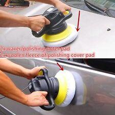 4Pc Car Wash Soft Wool Polishing Buffer Polishing Pad For 9inch&10inch Polisher