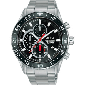 Alba Active Men's Chronograph Watch with Black Dial AM3847X1