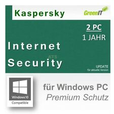 Kaspersky Internet Security 2 PC GreenIT Update 1 Jahr g.f 2016|2015|2014|2013