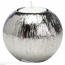 Kerzenständer 4er Set silber Teelichthalter Advent Weihnachten Adventskranz 034