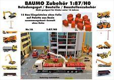 Nr.1A 12 Ziegelsteine ohne Folie auf Palette 1:87/H0 Resin für LKW Baufahrzeuge