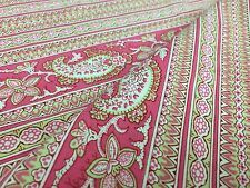 """Pink Paisley Cotton Cutter Quilt Fabric  58.5"""" x 34.75"""" French"""