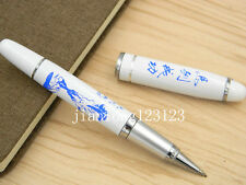 Jinhao Blue And White Porcelain With Blue Horse Painting Metal Rollerball Pen