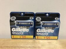 16 Brand New Gillette Mach 3 Turbo Razor Blade Refills Cartridges Sharp Packs