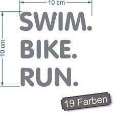 Triathlon  swim. bike. run. schwimmen radfahren laufen Aufkleber Sticker #7882