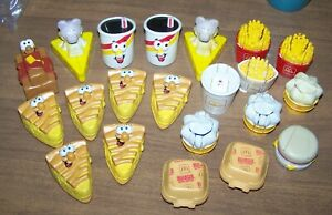 Lot of 21 McDonalds Happy Meal Changeables Transformers Toys - Burger King Pies