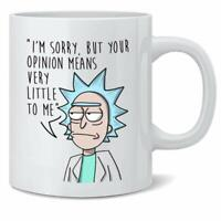 Rick Morty Your Opinion Means Little Great Gift Season 1 Coffee Tea Mug - 11Oz