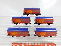 CF745-1# 5x Märklin H0/AC Somo/Güterwagen Asgaard NEM KK (4415), Abbrüche