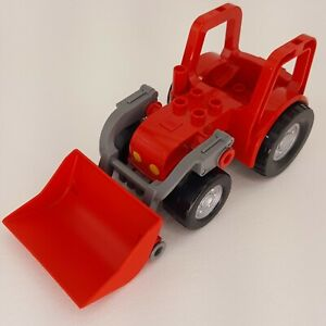 Duplo Lego Red Farm Tractor Front Loader Bucket Replacement Piece Part 2003