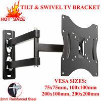 TV WALL BRACKET TILT SWIVEL FOR 10 15 20 23 25 30 32 38 40 42 PLASMA 3D LED LCD