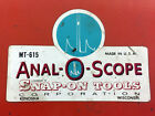 SALE! VINTAGE Snap-On Anal-O-Scope MT-615 Oscilloscope with Stand, Accessories