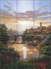 Ceramic Tile Mural Kitchen Backsplash Mirkovich Tuscan River Landscape NMA080