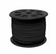 10 METERS BLACK COLOUR SUEDE LEATHER CORD