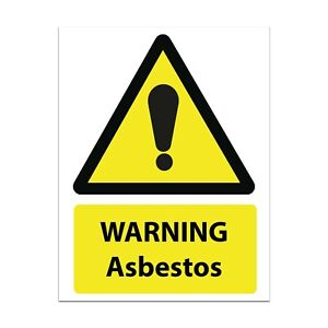 Asbestos Warning Sign Manufactured To HSE Requirements