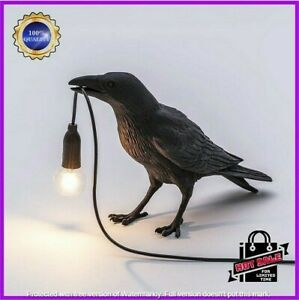 Seletti Style Raven Lamp Wall Light Black White Novelty Bird Resin Crow Bedside✅