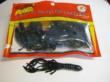 Arkie salty craw Jr. 10 per pack  black blue flake