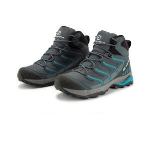 Scarpa Mens Maverick GORE-TEX Hiking Boots Blue Grey Sports Outdoors Waterproof