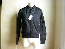 Moschino Love Great Hip Casual Rain Biker Sport LOOK Black Jacket S 36 52