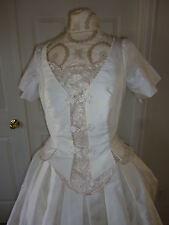 ST.PUCCI AVINE PERUCCI 100% PURE SILK WEDDING DRESS  Made In Thailand