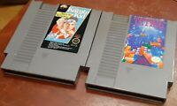 Nintendo NES The Karate Kid & Tetris loose carts, cleaned & tested, authentic
