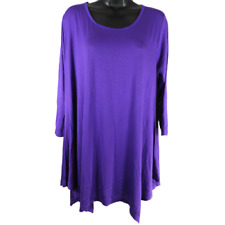 Belaroi Purple 3/4 Sleeve Tunic Top Women's Size Large