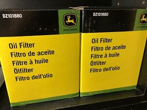 2 Pack! John Deere Original Equipment Oil Filter Kit P/N DZ101880 Best Deal