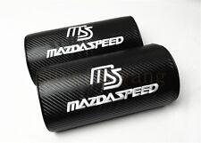 2Pcs MS Black Carbon Fiber & Embroidery Car Seat Neck Cushion Pillow Headrests