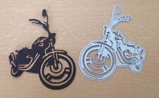 MOTO Harley Die Cut Stencil Metallo Muore Muore fatti a mano le carte di prenotazione rottami