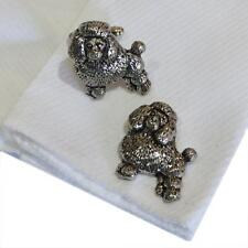 Quality Cufflinks Handmade in England Silver Pewter Poodle Dog High