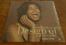 JANET JACKSON -  DESIGN OF A DECADE 1986 - 1996 US. PRINT NTSC LASER DISC