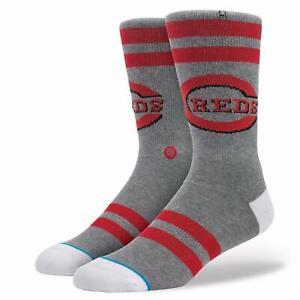 Stance Men's MLB Cincinnati Reds Baseball Riverfront Crew Socks Sz S/M NWT