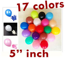 "10-200 PK Air Quality Mini Round Balloons Latex 5"" inch Wedding Birthday party"